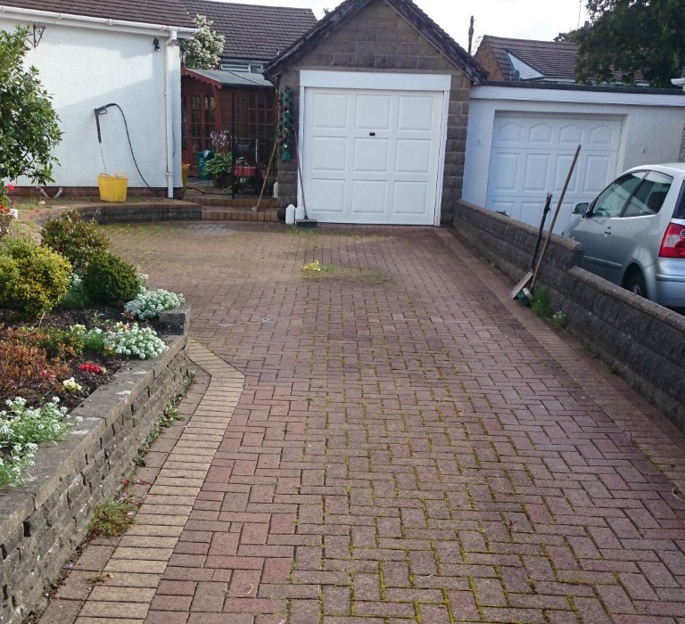 Before Driveway Cleaning